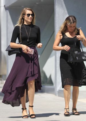 Dianna Agron in Purple Skirt Out in Beverly Hills