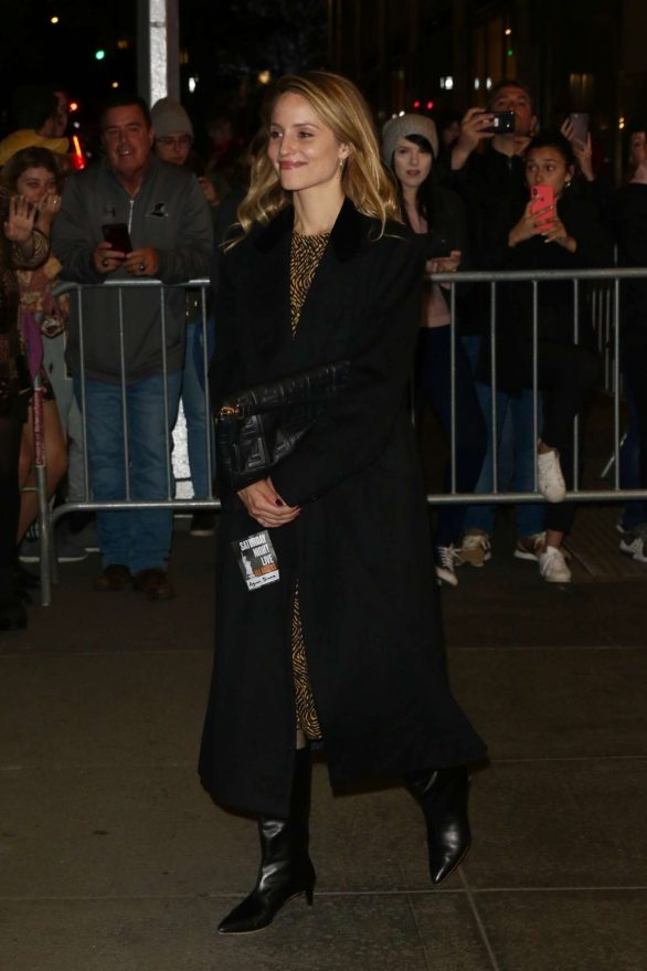 Dianna Agron - Leaves SNL in New York