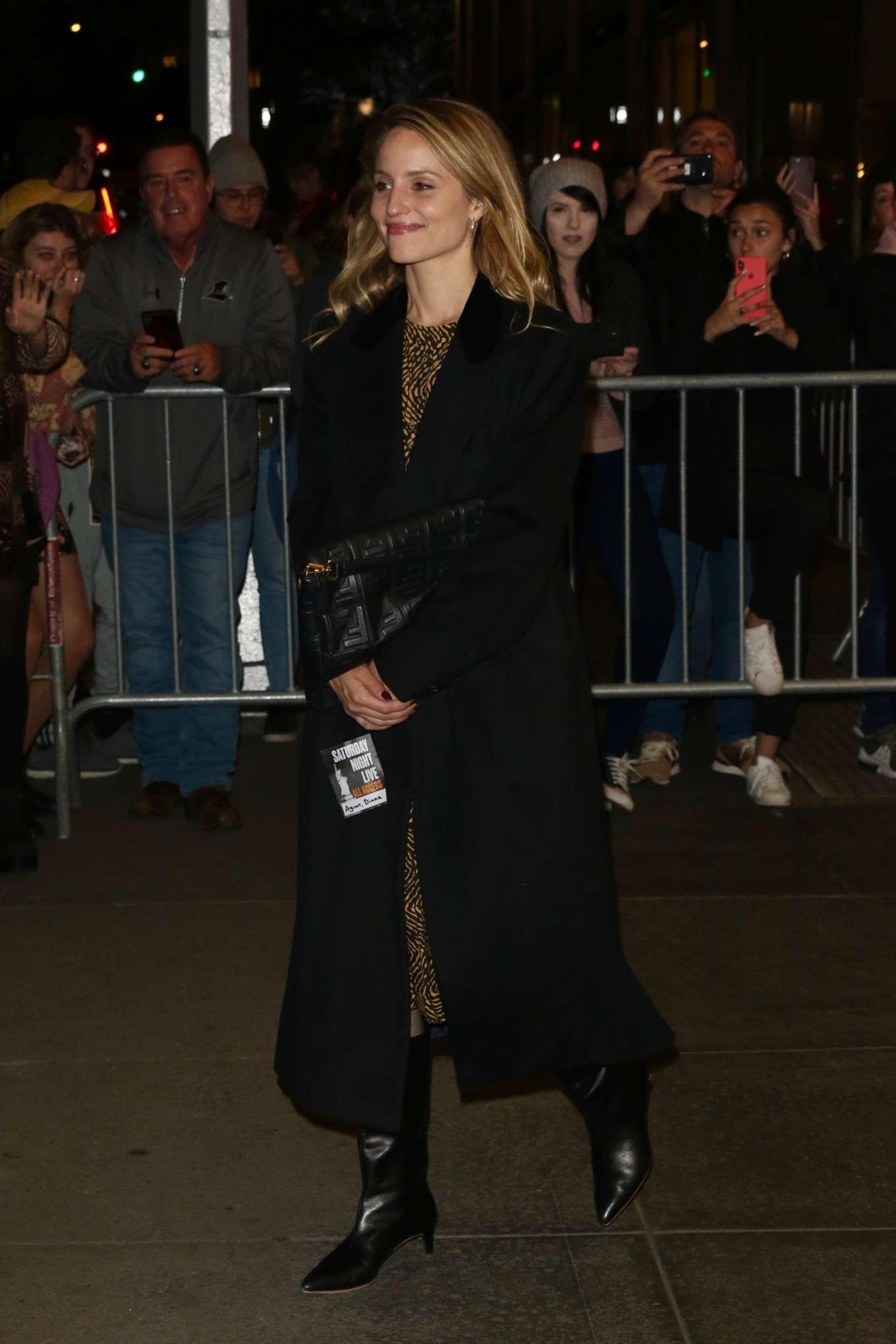 Dianna Agron - Leaves SNL in New York