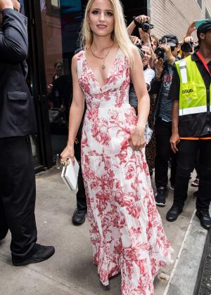 Dianna Agron - Leaving Oscar De La Renta Fashion Show in New York