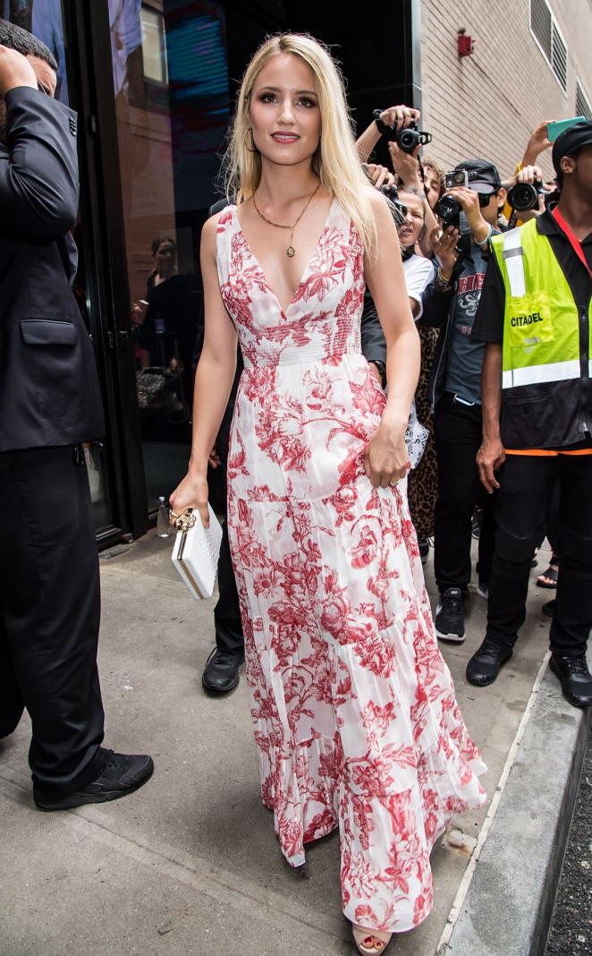 Dianna Agron – Leaving Oscar De La Renta Fashion Show in New York