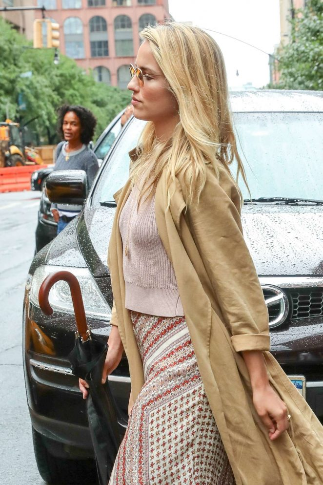 Dianna Agron Leaving the Greenwich Hotel in New York City