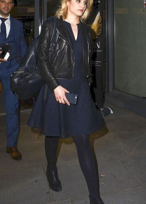 Dianna Agron - Leaving the St. James Theatre in London