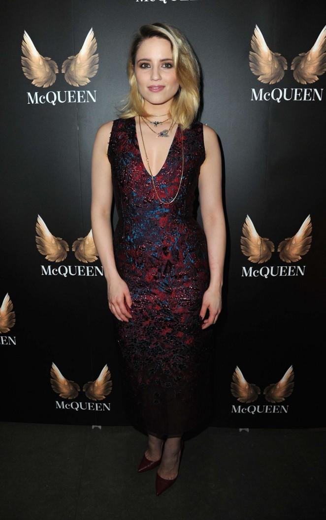Dianna Agron: McQueen Press Night Performance -02