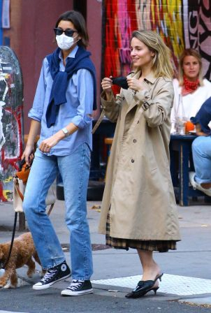 Dianna Agron - Spotted with a friend in NYC