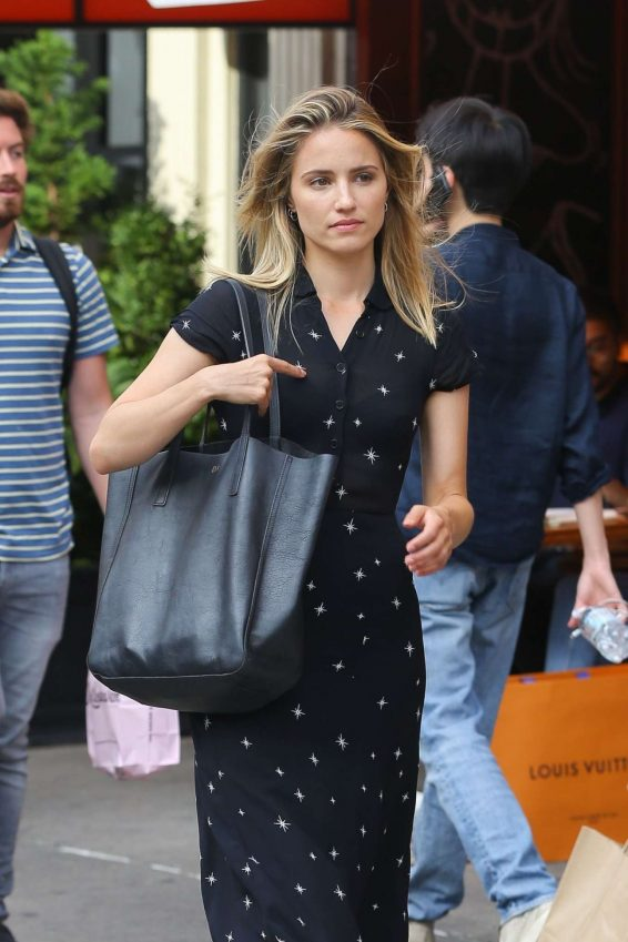 Dianna Agron - Wears summer dress while out and About in New York