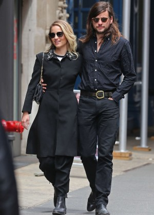 Dianna Agron with boyfriend out in New York City