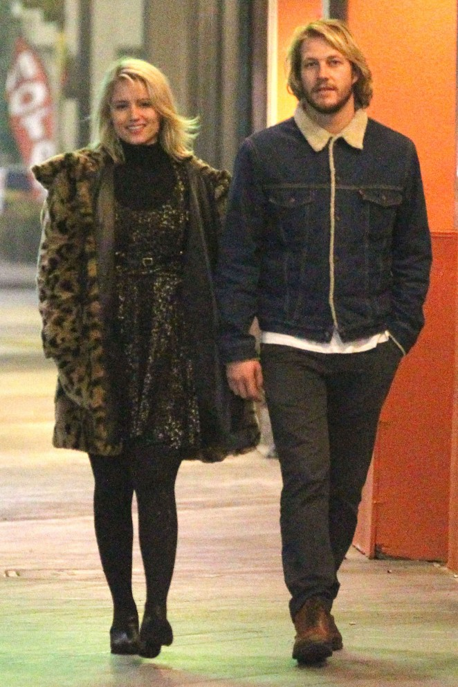 Dianna Agron With her Boyfriend Out in LA