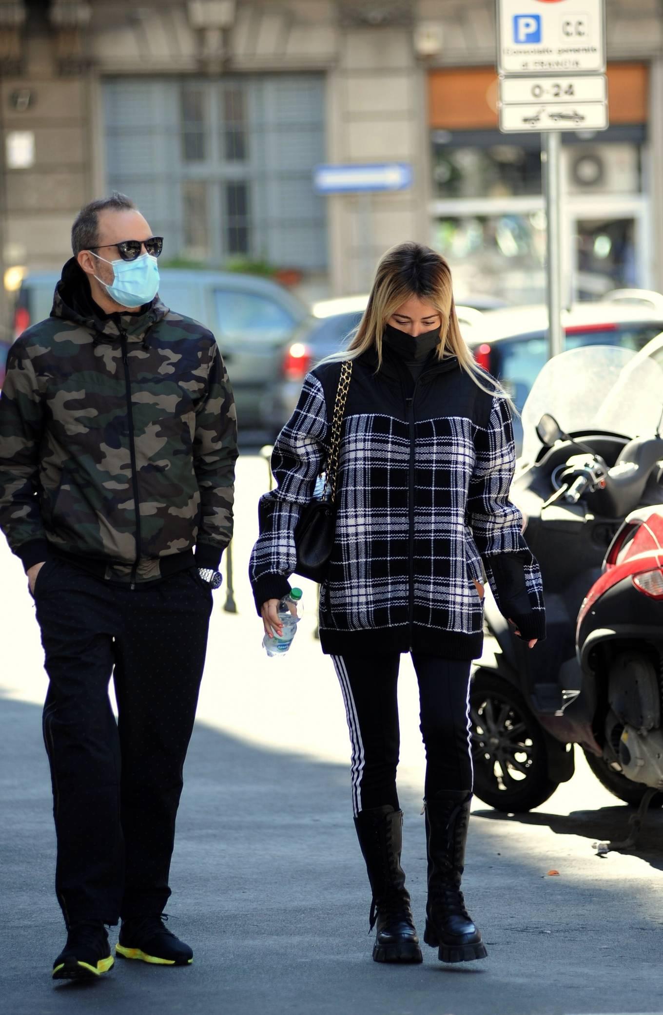 Diletta Leotta - Out with Daniele Battaglia in Milan