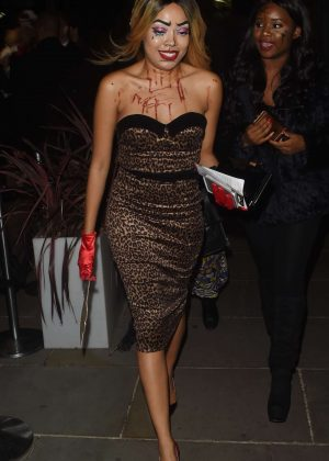 Dionne Bromfield - Halloween Party at M Restaurant in London