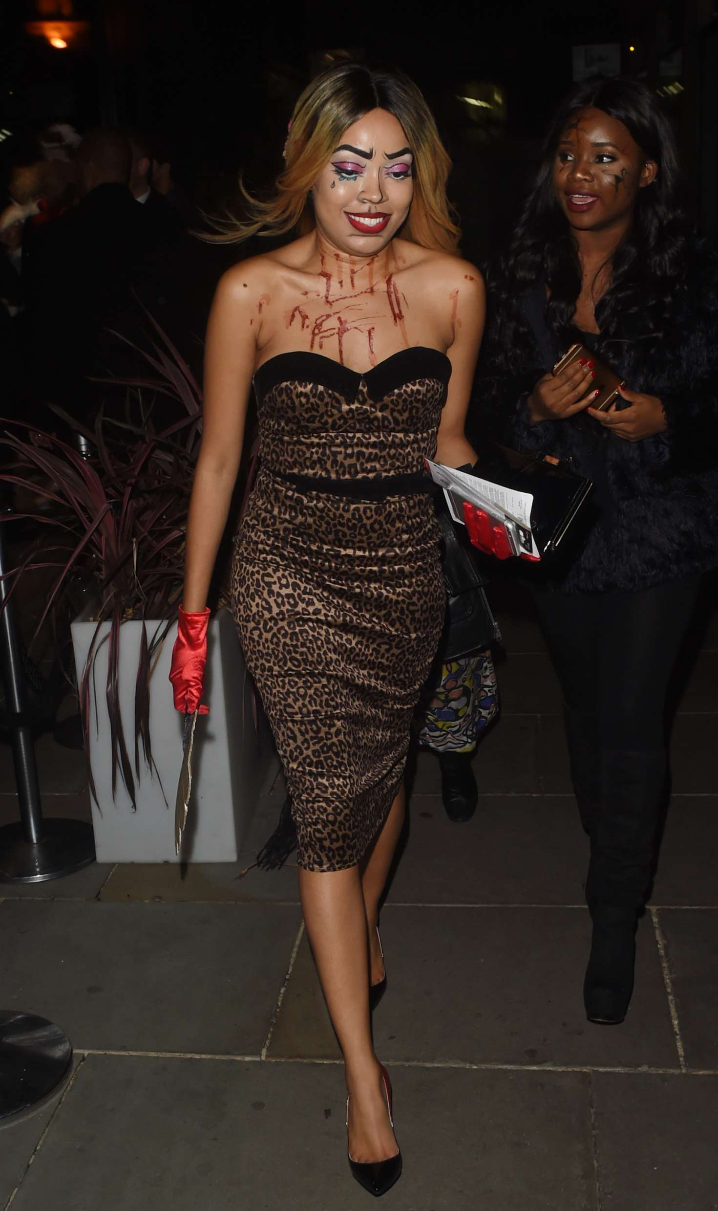 Dionne Bromfield: Halloween Party at M Restaurant -01 - GotCeleb