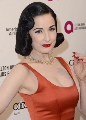 Dita Von Teese - 2016 Elton John AIDS Foundation's Oscar Viewing Party in West Hollywood