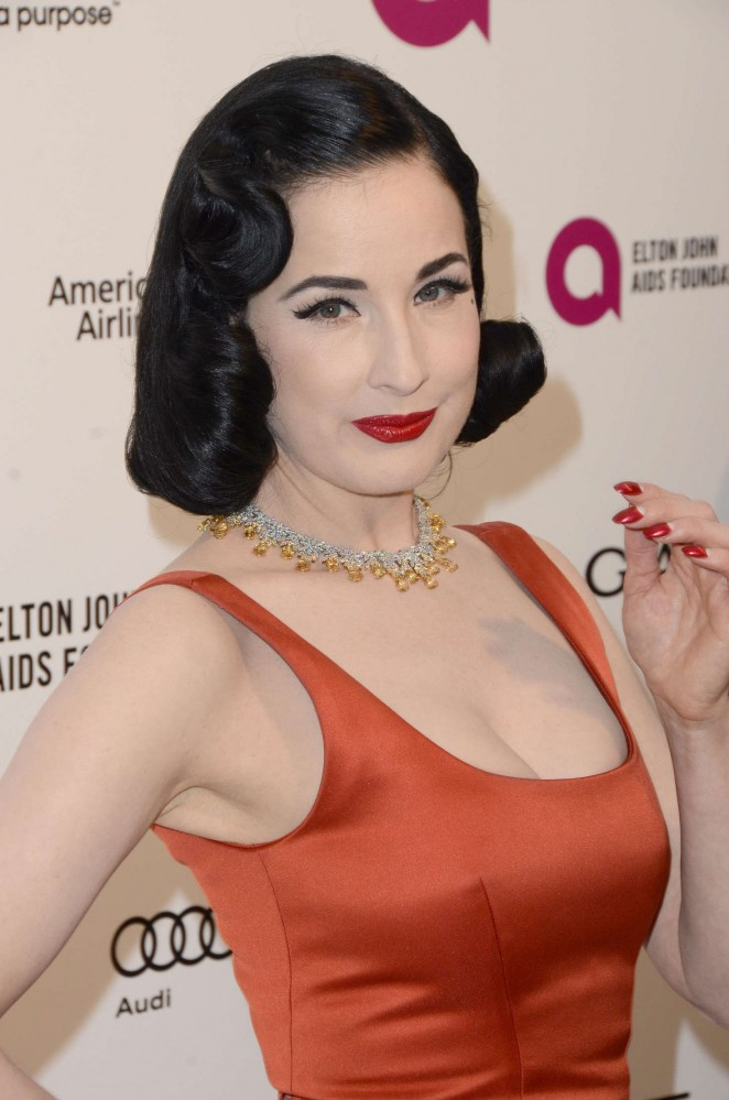 Dita Von Teese - 2016 Elton John AIDS Foundation's Oscar Viewing Party ... Dita Von Teese