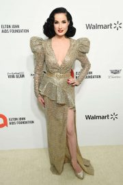 Dita Von Teese - 2020 Elton John AIDS Foundation Oscar Viewing Party in LA