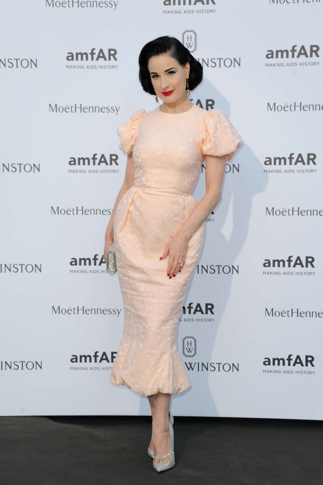 Dita Von Teese - amfAR Dinner 2015 in Paris