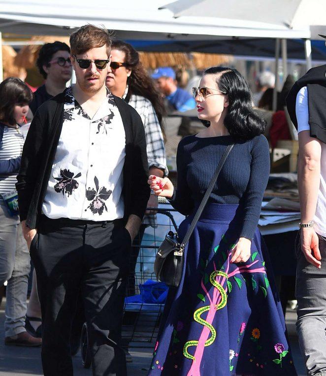 41c9b8038141 Dita von Teese and boyfriend Adam Rajcevich  Shopping in Los Angeles ...