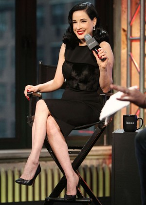 Dita Von Teese - AOL BUILD Presents 'Your Beauty Mark: The Ultimate Guide To Eccentric Glamour' in NY