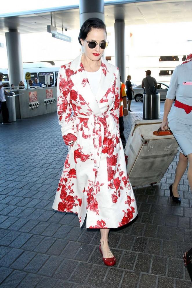 Dita Von Teese: Arrives at LAX -05
