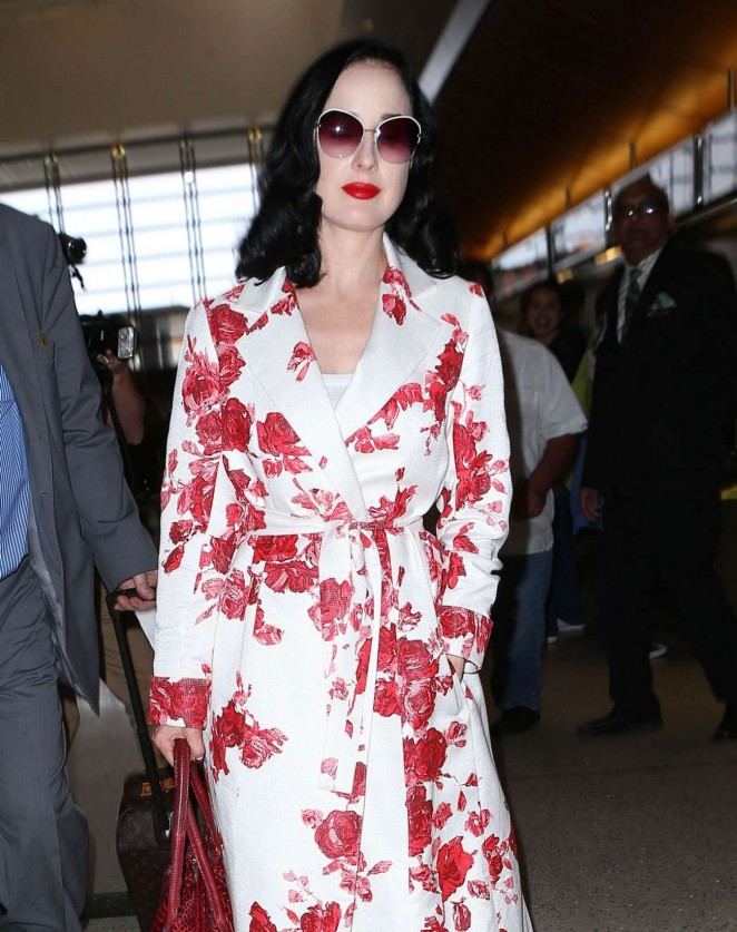 dfc6d103daf0 Dita Von Teese – Arrives at LAX airport in Los Angeles – GotCeleb