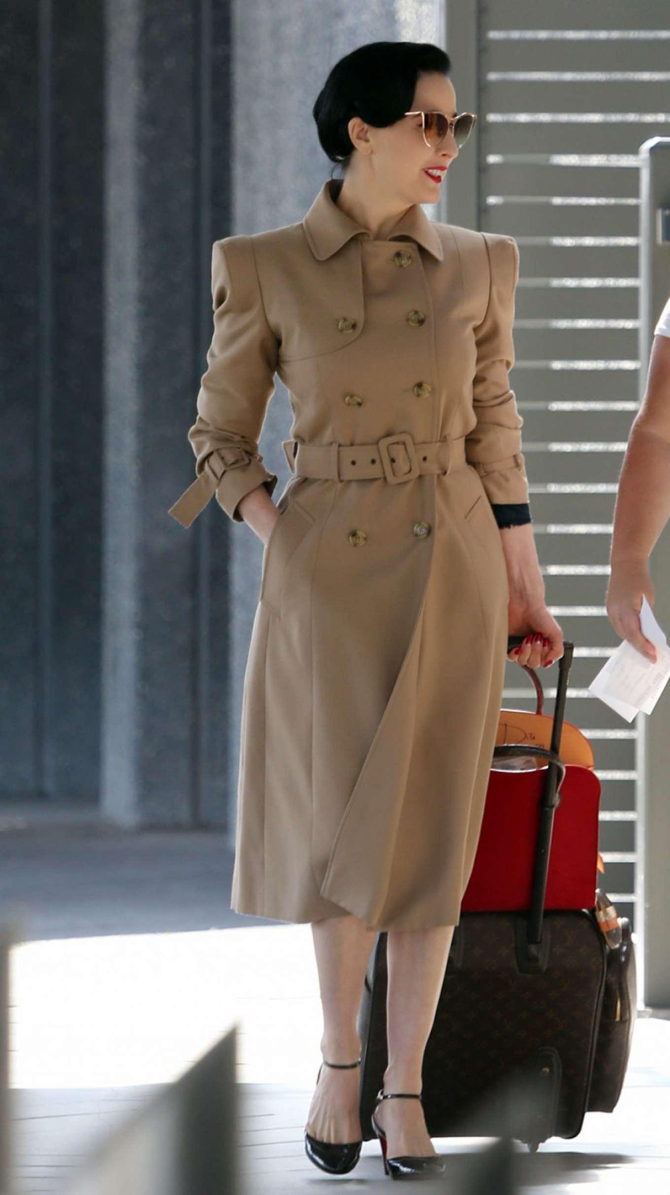 11c9da360b54 Dita Von Teese  Arrives at Perth Airport -03 – GotCeleb