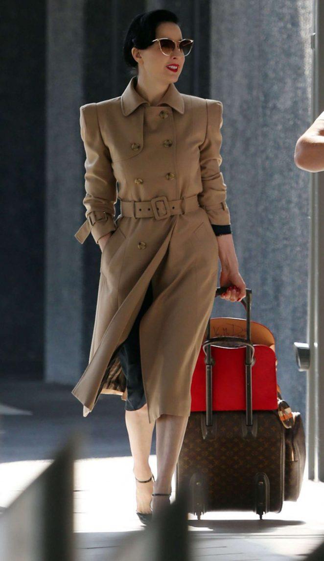 c1f4739fefac Dita Von Teese  Arrives at Perth Airport -06 – GotCeleb