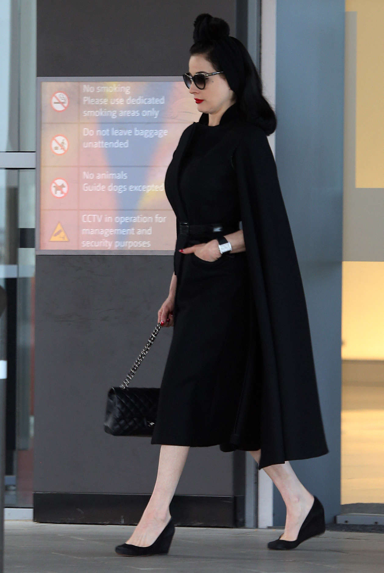2de9db6d77be Dita Von Teese at airport in Perth -10 - Full Size