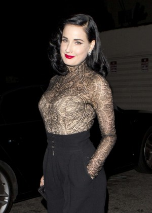 Dita Von Teese at Craig's Restaurant in West Hollywood