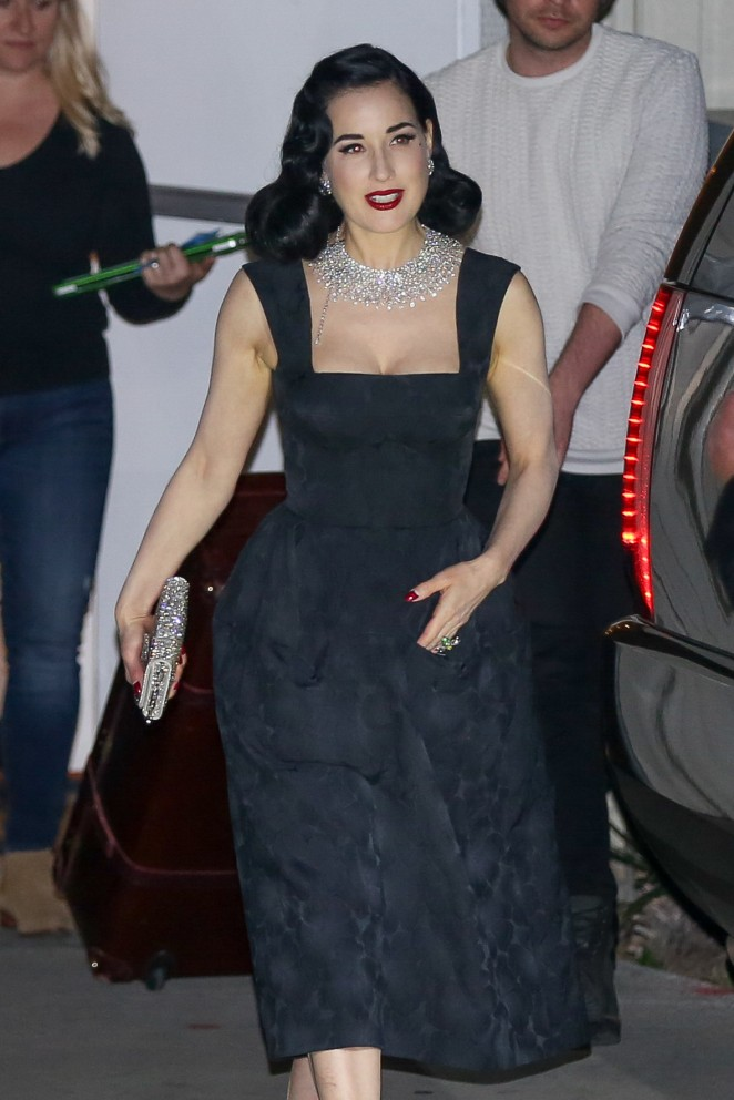 Dita Von Teese at 'Kocktails With Khloe' in Burbank