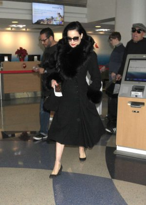 Dita Von Teese at LAX Airport in Los Angeles