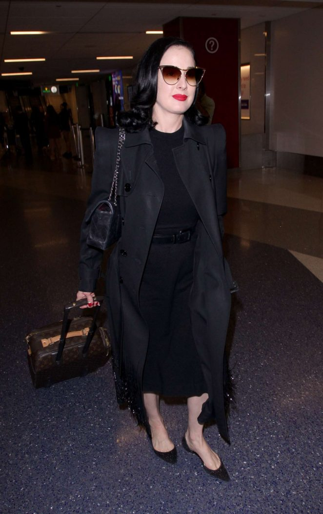 Dita Von Teese at LAX International Airport in Los Angeles