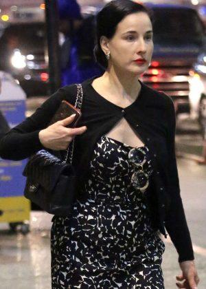 Dita Von Teese at Los Angeles International Airport in LA
