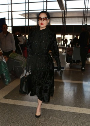 d5108fe82fbb Dita Von Teese at Los Angeles International Airport -18 - Full Size