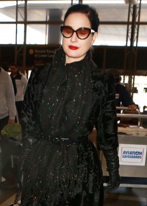 Dita Von Teese at Los Angeles International Airport