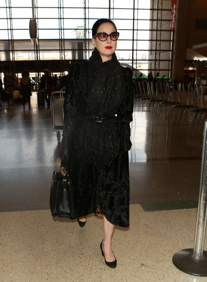 Dita Von Teese at Los Angeles International Airport -16
