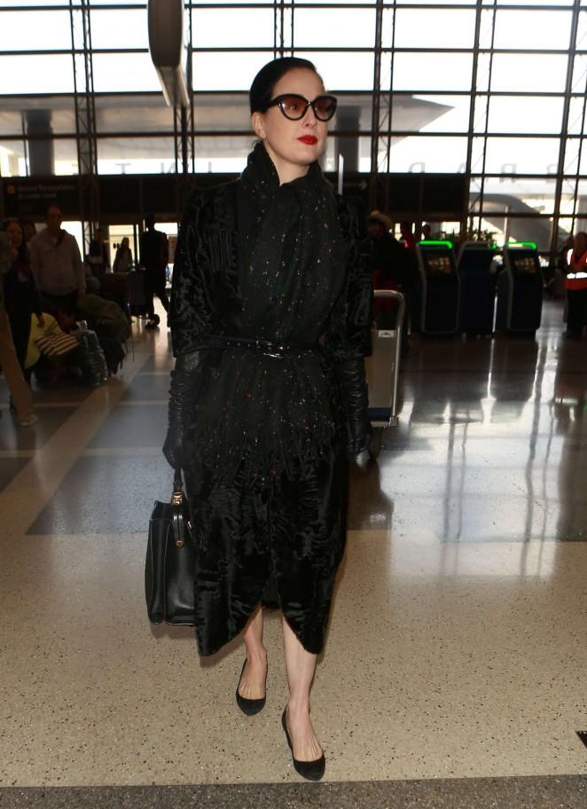 Dita Von Teese at Los Angeles International Airport -17