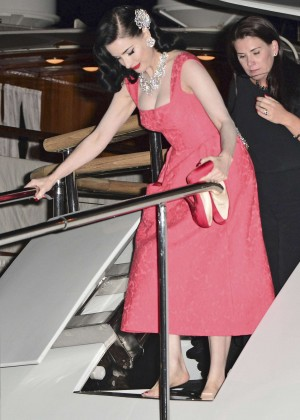 Dita Von Teese in Red Dress -01
