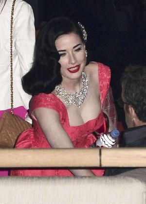 Dita Von Teese in Red Dress -02