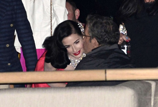 Dita Von Teese in Red Dress -04