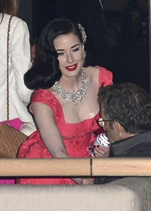Dita Von Teese in Red Dress -07