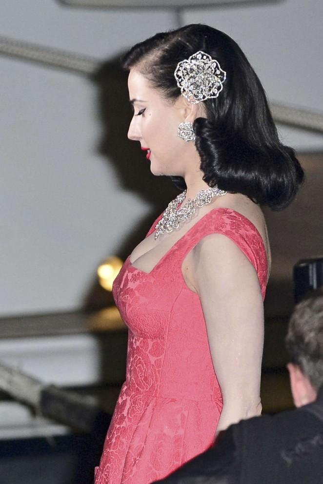 Dita Von Teese in Red Dress -08