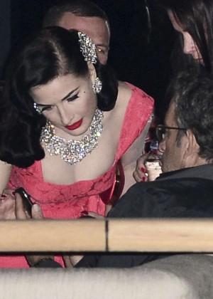 Dita Von Teese in Red Dress -09