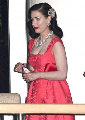 Dita Von Teese in Red Dress -13