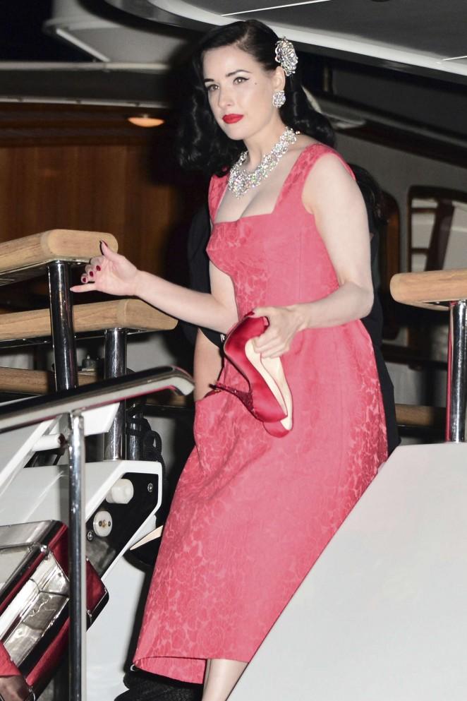 Dita Von Teese in Red Dress -15