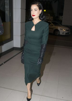 Dita Von Teese at Sake Restaurant in Double Bay