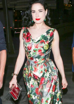 Dita Von Teese at the Adele Concert -10 - GotCeleb