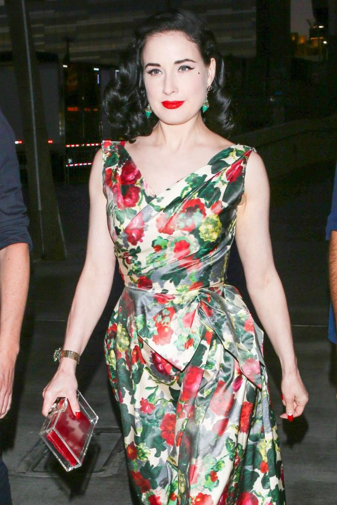 Dita Von Teese at the Adele Concert in Los Angeles