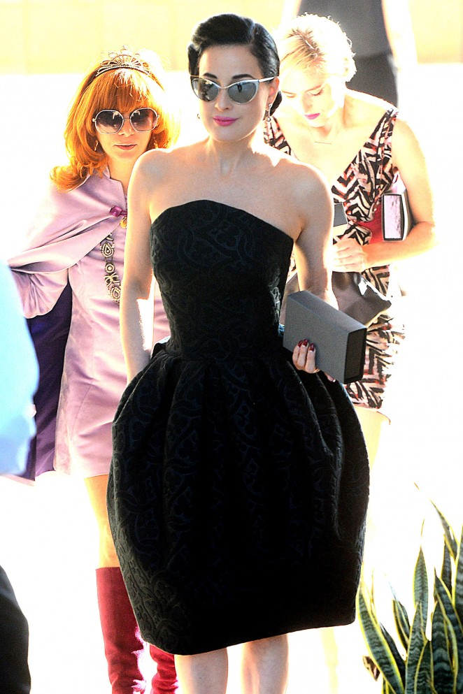 Dita Von Teese - Attends the M.A.C Cosmetics Zac Posen Luncheon in Los Angeles