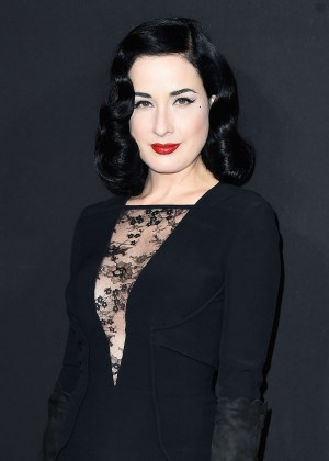 Dita von Teese - Elie Saab Fashion Show in Paris