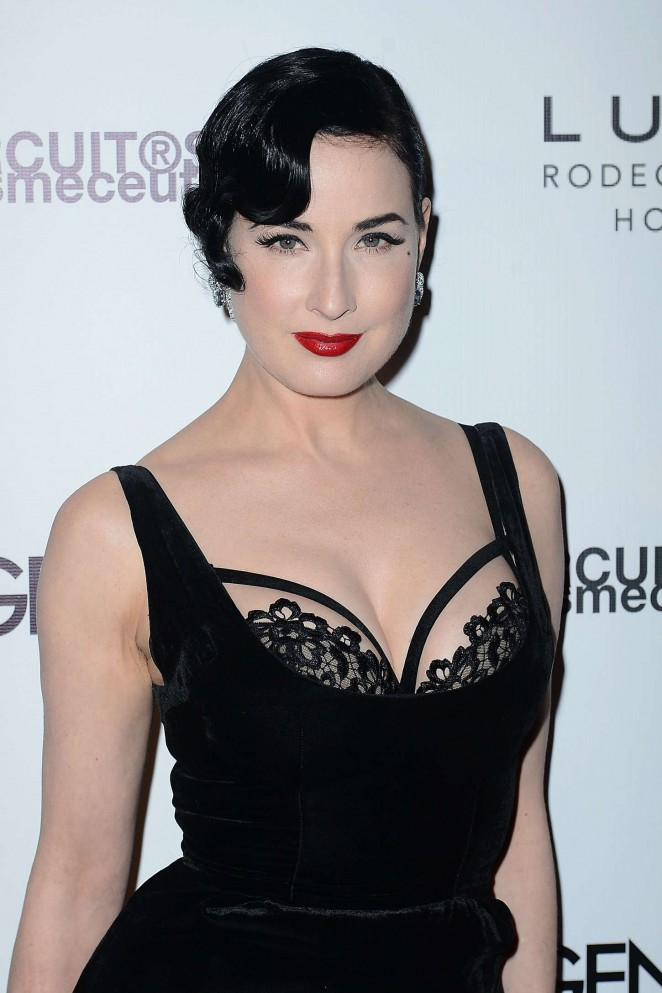 Dita Von Teese – Genlux Cover Issue Party in Beverly Hills