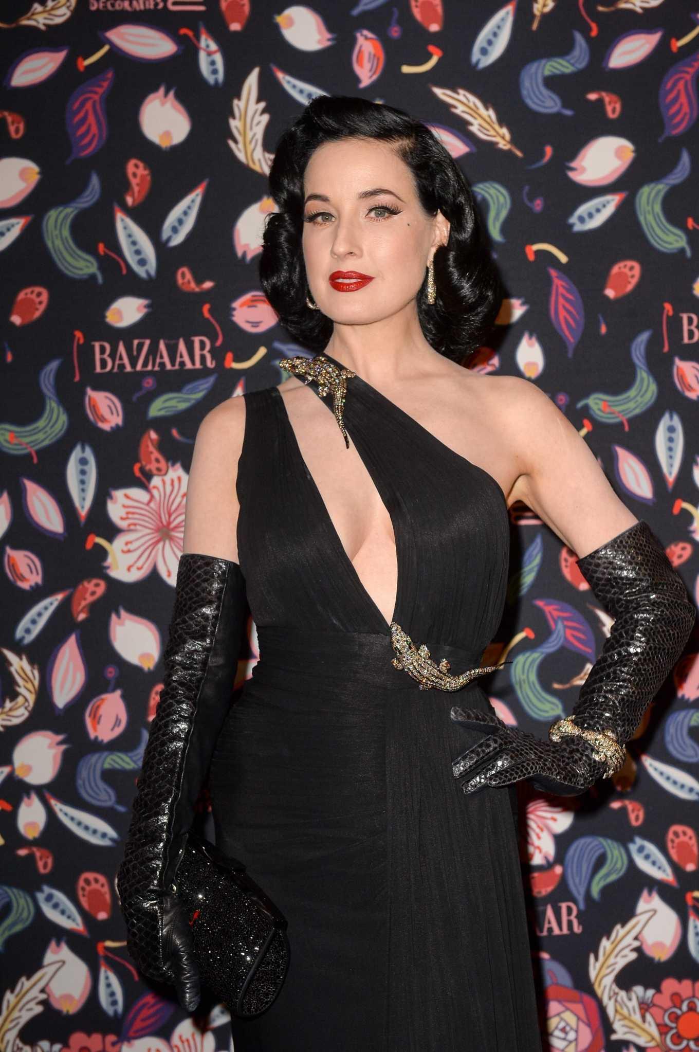 Dita Von Teese - Harper's Bazaar Exhibition at Paris Fashion Week 2020